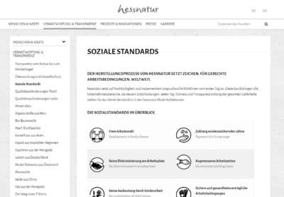 hessnatur - Sozialstandards